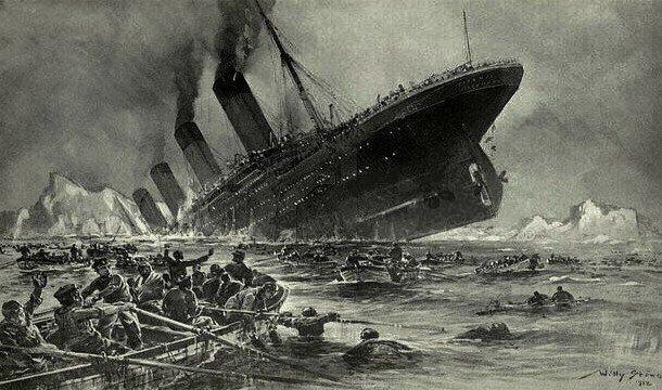 Тонущий «Титаник»