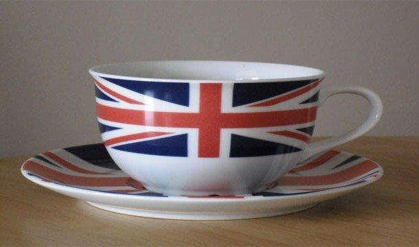 Чайная чашка с британским флагом