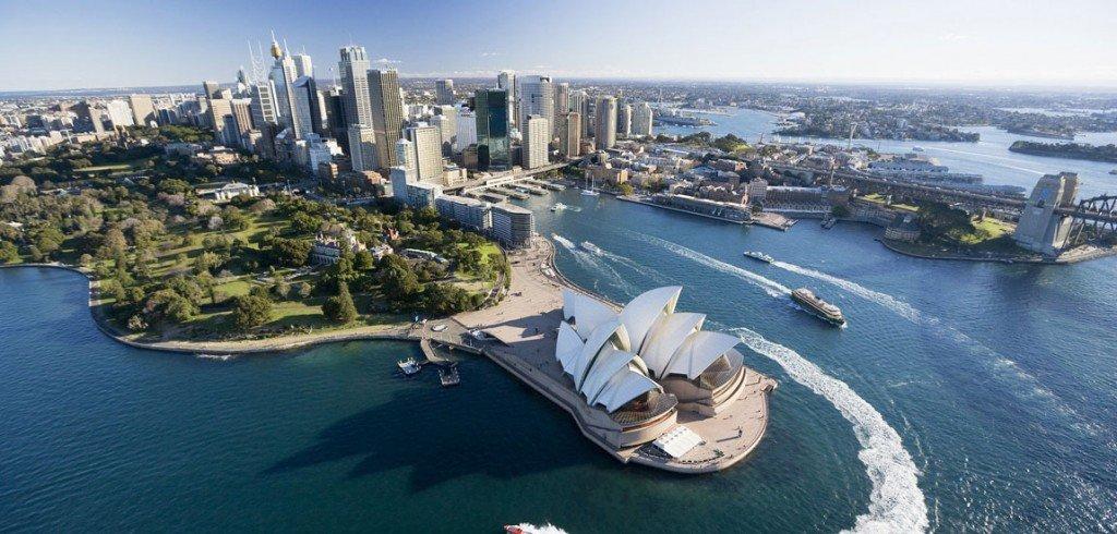 Вид на Сидней с высоты