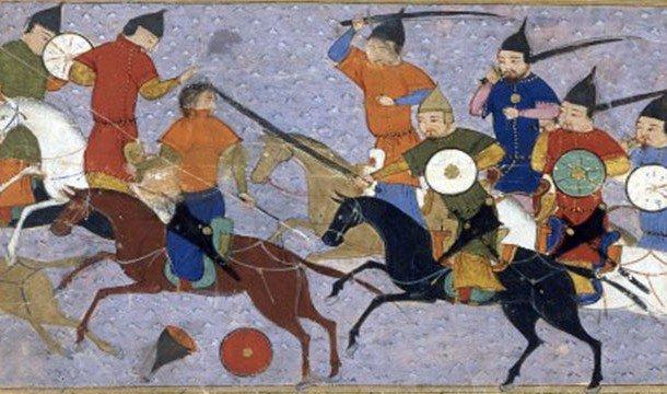 Монголы разбивают очередного врага