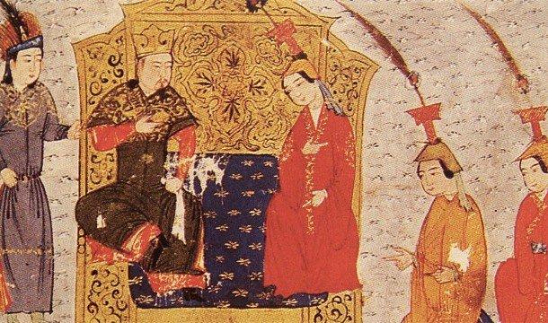 Чингисхан и императрица Бортэ