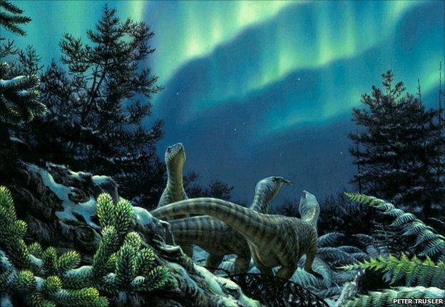 Доисторические животные в лесах Антарктиды
