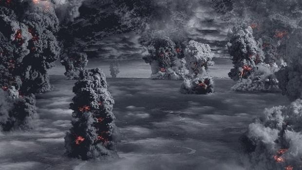 Извержение нескольких вулканов