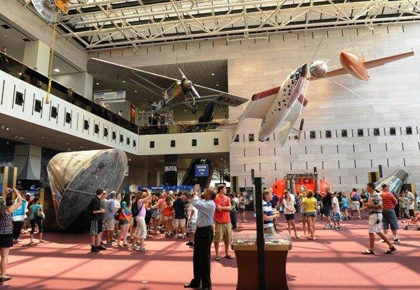 Выставочный зал национального музея  авиации и космонавтики