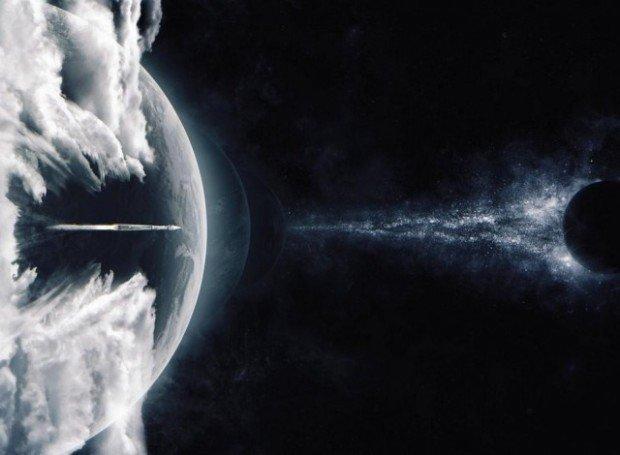 """Космический корабль в космосе, кадр из фильма """"Интерстеллар"""""""