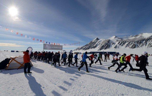 Марафонцы в Антарктиде