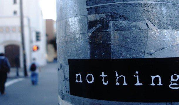 Надпись nothing