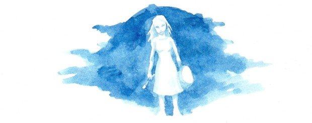 Детский рисунок, изображающий девочку