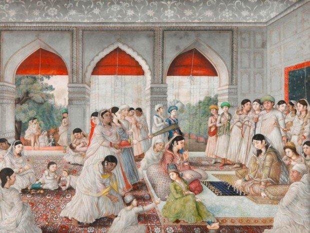 Изображение шахматных партий в Индии