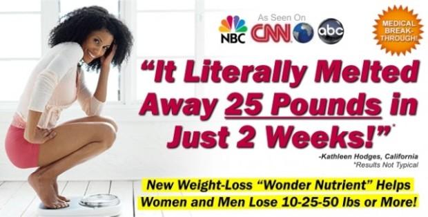 Реклама продукта для похудения