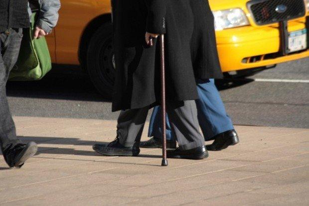 Инвалид с палочкой