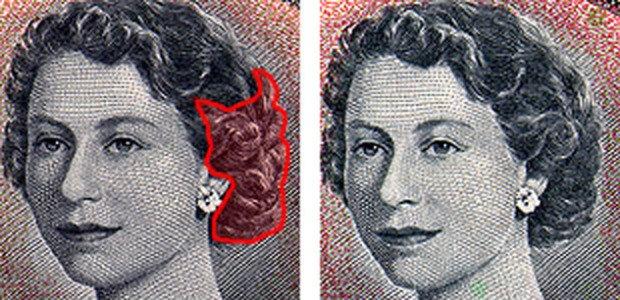 Изображение королевы Елизаветы II на банкноте номиналом 1000 канадских долларов
