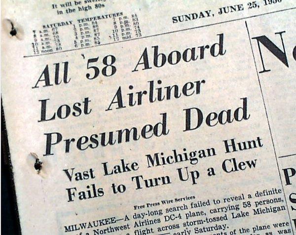 Статья о пропавшем рейсе 2501 Northwest Airlines