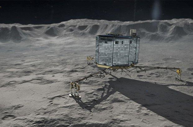 Космический зонд на комете (компьютерная графика)
