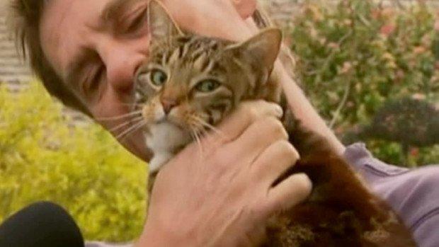 Крейг Гивс и его кошка Салли