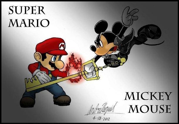 Марио против Микки