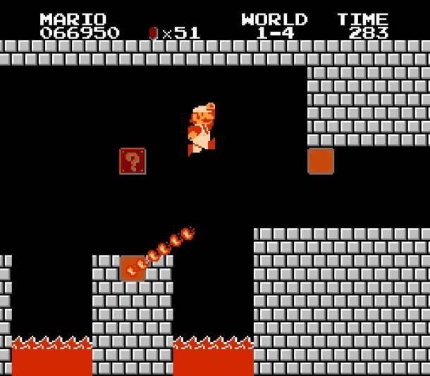 Фрагмент игры Super Mario Bros