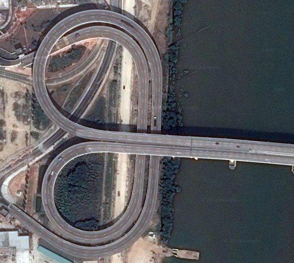 Мост Лотоса (Макао). Вид сверху