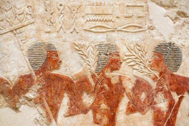 Настенные рисунки древних египтян