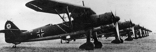 Немецкий бомбардировщик времён Второй мировой войны