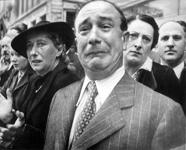 Плачущий француз во время Второй мировой войны