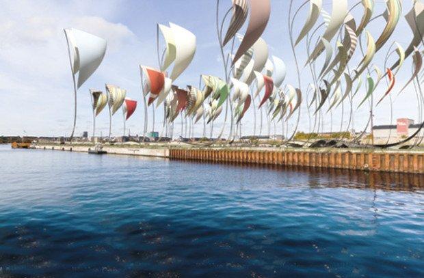 Плавающая платформа в море