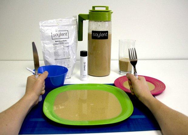 Тарелка с сойлентом