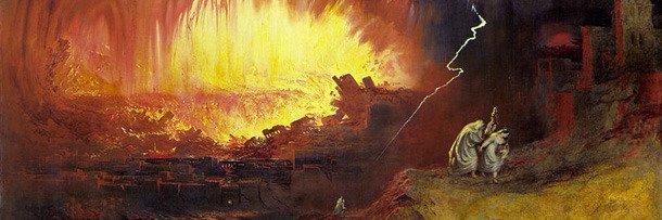 Уничтожение Содома и Гоморры в представлении художника