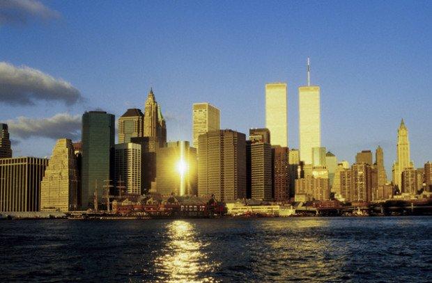 Вид на Манхэттен до 11 сентября