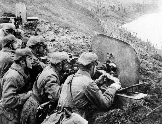 Немецкие пулемётчики времён Первой мировой войны