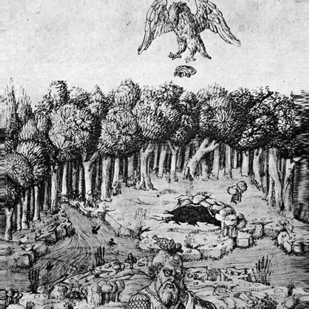 Орёл сбрасывает черепаху на голову Эсхилу