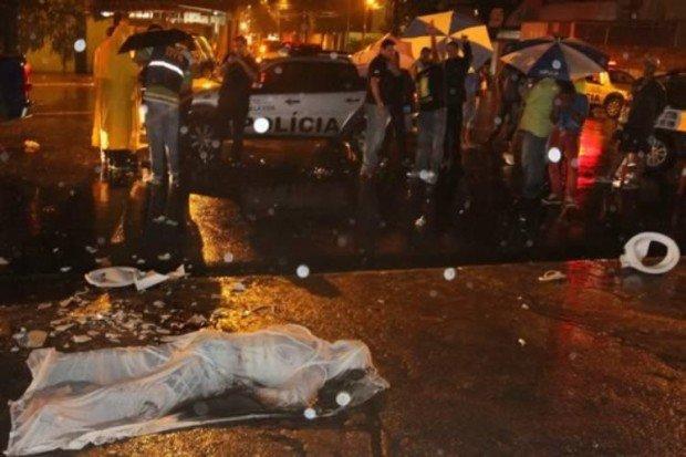 Тело бразильского болельщика, на голову которого упал унитаз