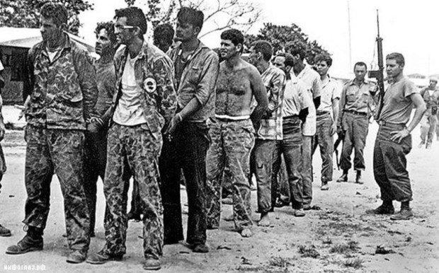 Задержанные кубинские наёмники, участвовавшие в операции в заливе Свиней