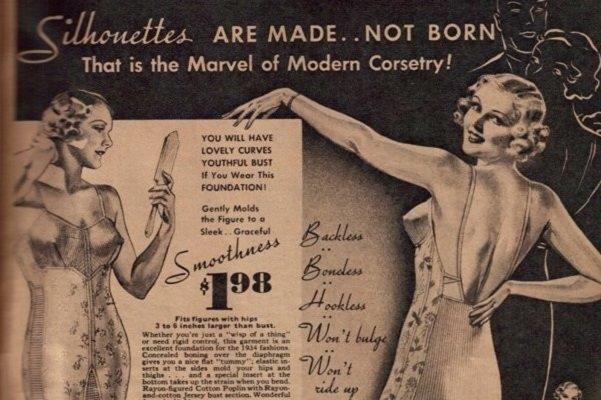 Реклама корсетов начала XX века