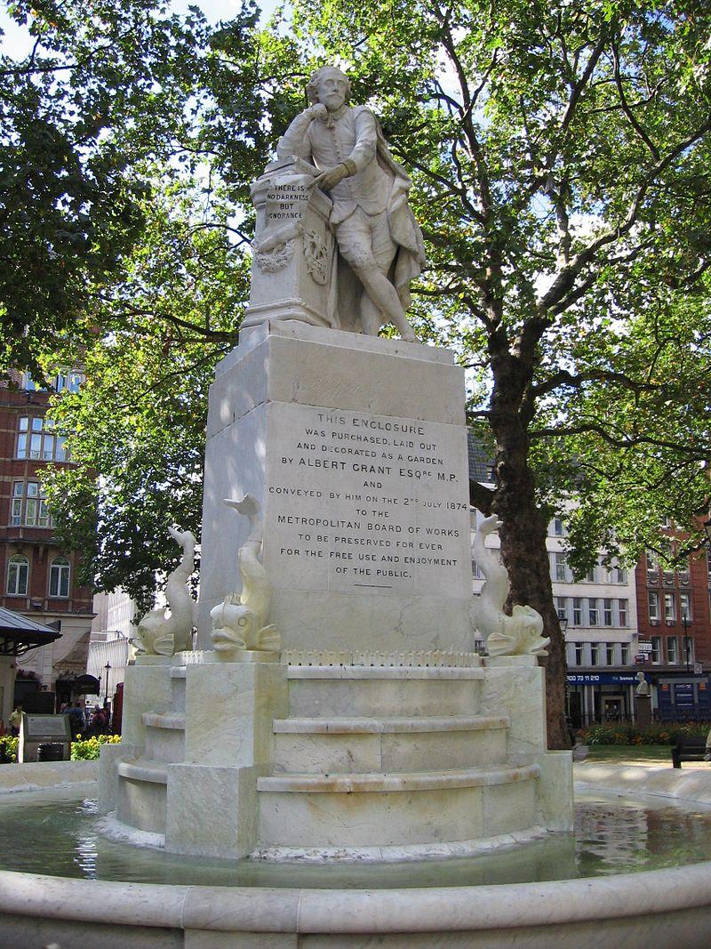 Памятник шекспиру в лондоне изготовление памятников москва шадринск