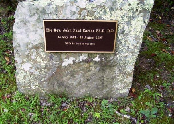 Могила доктора Джона Пола Картера
