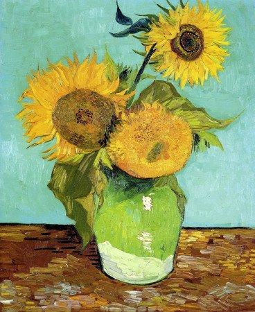 «Три подсолнуха в вазе», Винсент Ван Гог, 1888 год