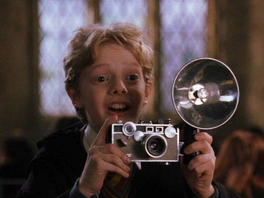 Колин Криви со своим драгоценным фотоаппаратом