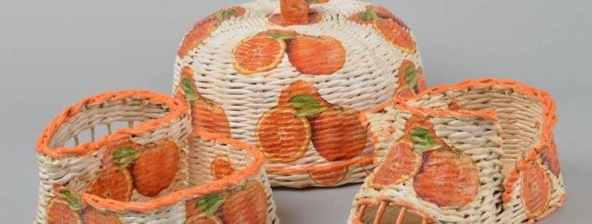 Плетеные корзины для декора