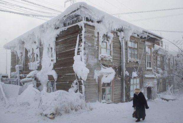 Самая холодная жилая деревня в мире