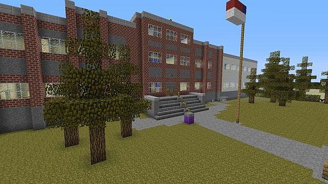 скачать карту на майнкрафт 1.5.2 на закрытая школа