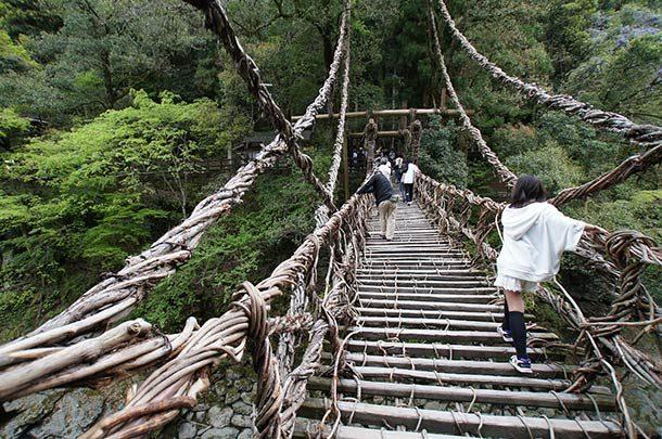 Мост Ия Казурабаши, Япония