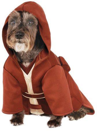 Собака в костюме джедая