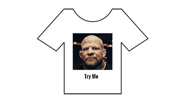 Родительское лицо на футболке