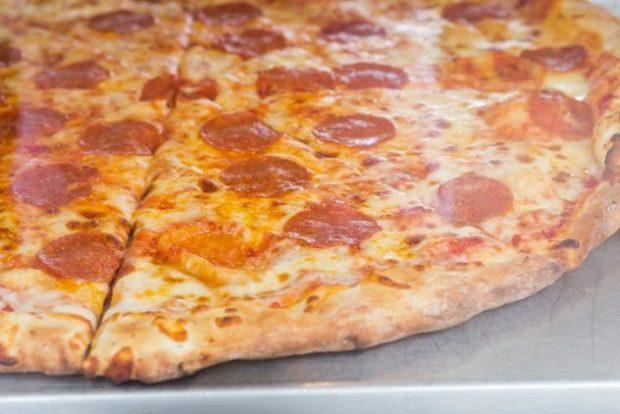 Порезанная пицца