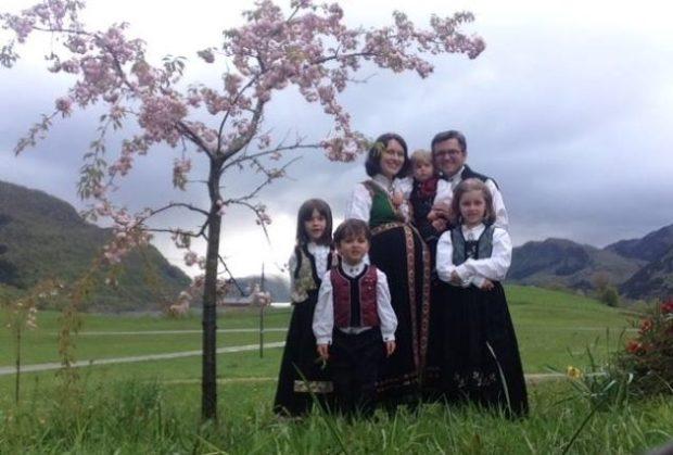 Семья норвежцев
