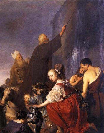 Моисей добывает воду из камня