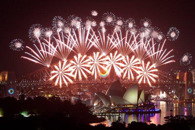 Сидней на Новый год