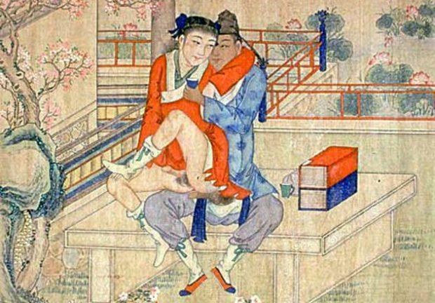 Изображение китайских мужчины и женщины