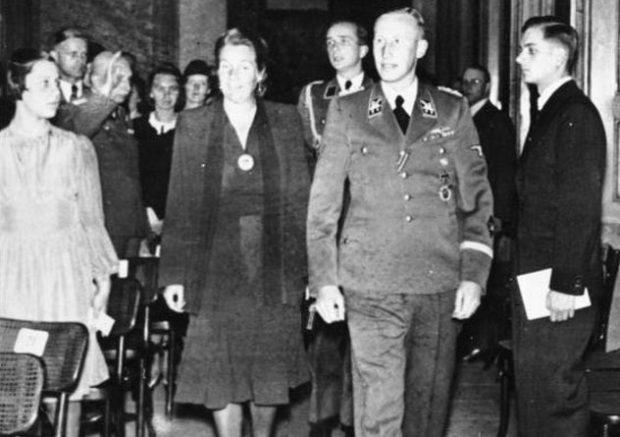 Лина Гейдрих с мужем